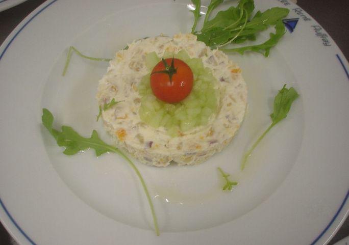 H tellerie restauration fiches techniques salade de for Une entree froide